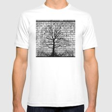 Graffiti Tree B/W Mens Fitted Tee White MEDIUM