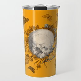 FLORAL SKULL and BUTTERFLIES Travel Mug