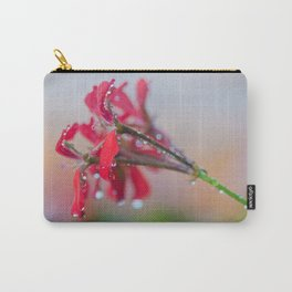 Red pelargonium flower Carry-All Pouch