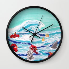 Chicken Dipping Wall Clock