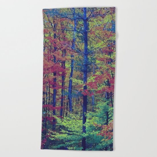 Forest - with exaggerated colors Beach Towel