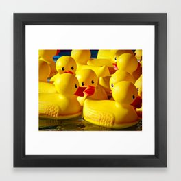 When they toss the ring, duck! Framed Art Print