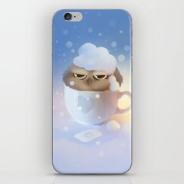cup of owl iPhone Skin