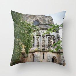 Rosslyn Chapel outside Edinburgh, Scotland Throw Pillow