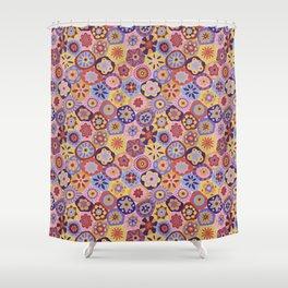Millefiori-Sunset colorway Shower Curtain