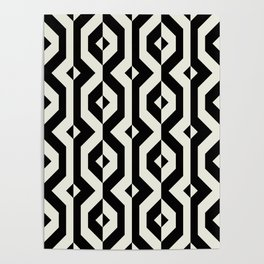 Modern bold print with diamond shapes Poster