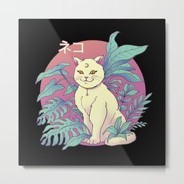 Vapor Cat Metal Print