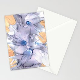 Lavender Floral Abstract: Original Alcohol Ink Painting Stationery Cards