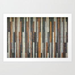 Wood Paneling Art Print