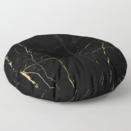 Black and gold marble Floor Pillow