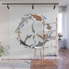 Peace for Sharks Wall Mural