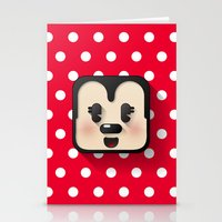 minnie mouse Stationery Cards featuring minnie mouse cutie by designoMatt