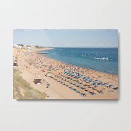 Albufeira beach Portugal Metal Print