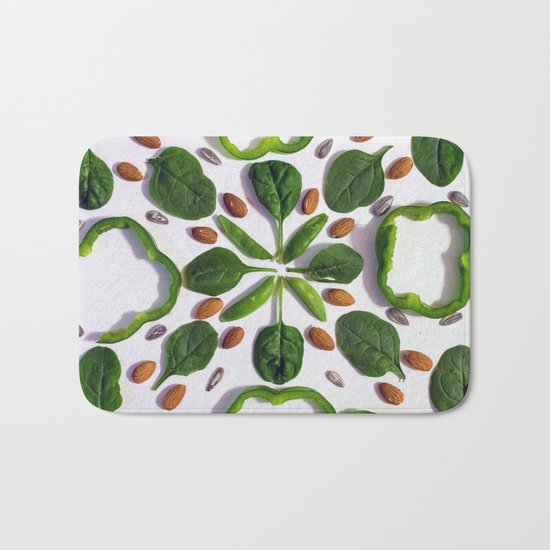 Green Salad Bath Mat
