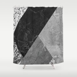 Marble and Granite Abstract Shower Curtain