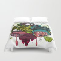 vonnegut Duvet Covers featuring She's Not Dead Yet by Stephanie Medeiros