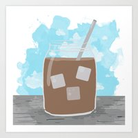 Iced Coffee Dreams Art Print