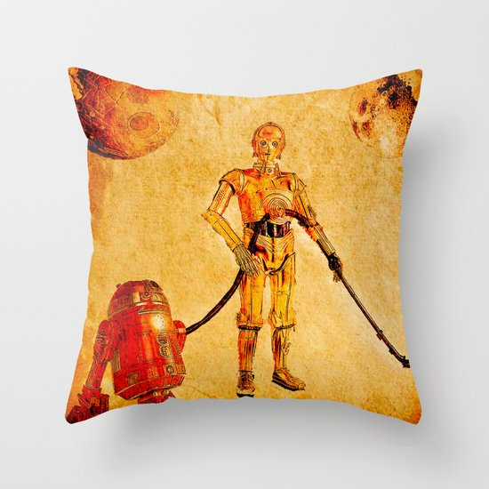 Cleaning in the space Throw Pillow