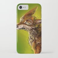 sassy iPhone & iPod Cases featuring Sassy Coyote by PuppyChowArts