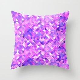 Lilac Bright Squares Mosaic Throw Pillow