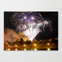 Castle Illuminations Inverness Scotland Canvas Print