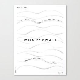 Wonderwall - Oasis (Song Poster) Canvas Print