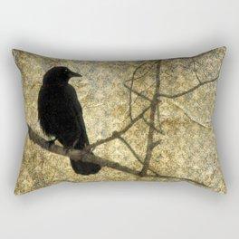 Crow Of Damask Rectangular Pillow