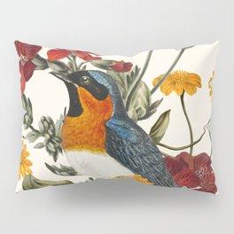 Little Bird and Flowers Pillow Sham