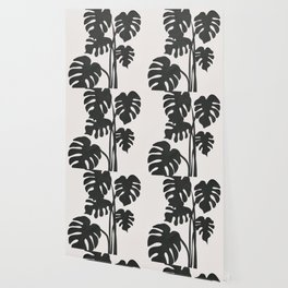 Monstera Line Wallpaper