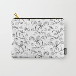 Birds of Prey - black on white Carry-All Pouch