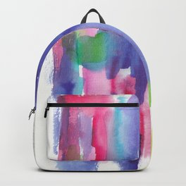 180812 Abstract Watercolour Expressionism 6| Colorful Abstract | Modern Watercolor Art Backpack