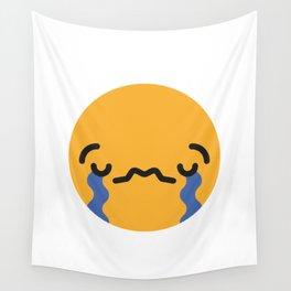 Emojis: Sad Wall Tapestry