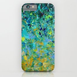 BEAUTY BENEATH THE SURFACE - Stunning Ocean River Water Nature Green Blue Teal Yellow Aqua Abstract iPhone Case