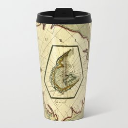 Map Of Mauritius 1705 Travel Mug