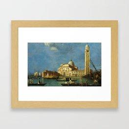 Venice - S. Pietro in Castello by Canaletto Framed Art Print