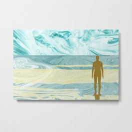 Statue on the Shore Metal Print