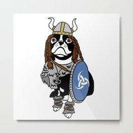 Viking Dog Metal Print