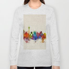 Tehran Iran Skyline Long Sleeve T-shirt