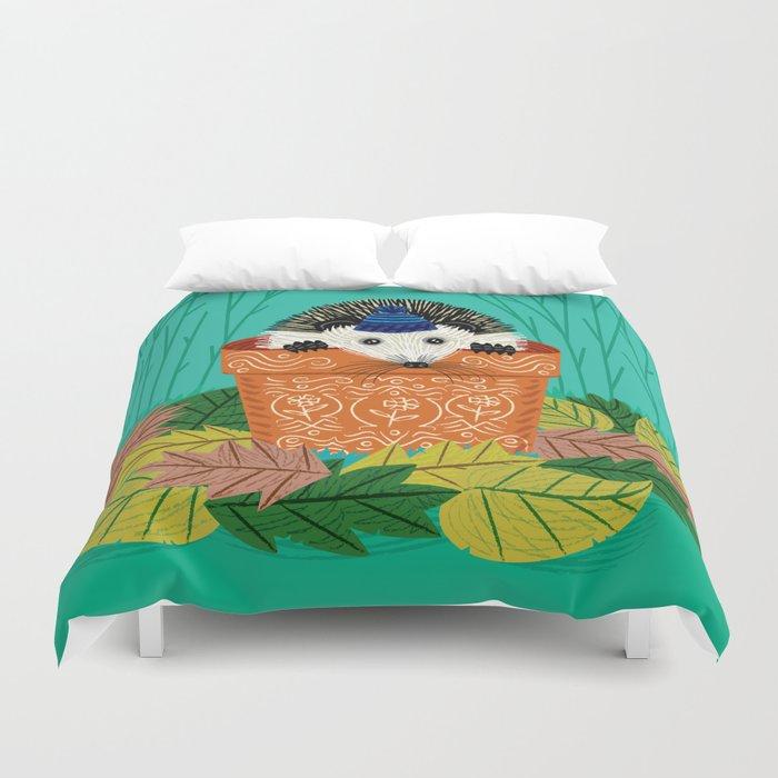 A Hedgehog's Home Duvet Cover