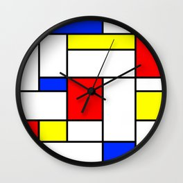 Mondrian2 Wall Clock