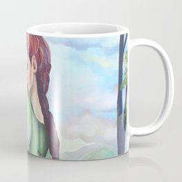 Bernadette and a fawn, oil paintinting on canvas Coffee Mug