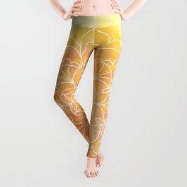 Watercolor Mandala // Sunny Floral Mandala Leggings