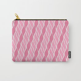 Pretty in Pink Stripes Carry-All Pouch