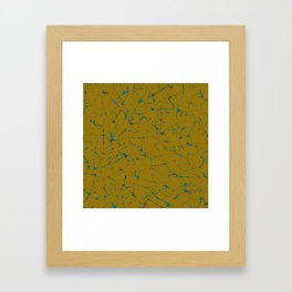 Ink Splatter Framed Art Print