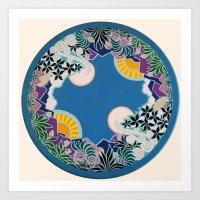 mandala Art Prints featuring Mandala by Abundance