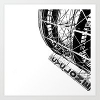 coasters Art Prints featuring cyclone by josiahcrawford