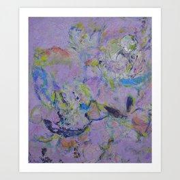 Floweres in Violet(1) 2015 Art Print