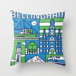 Bellingham, Washington Throw Pillow