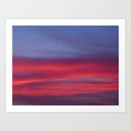 Pink and Blue Skies Art Print