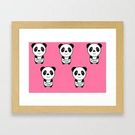 Don't be racist panda Framed Art Print